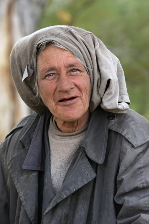 "Oct. 20th, 2007 Alamo Nevada: ""Outlaw Rose"" a homeless woman near Alamo NV"